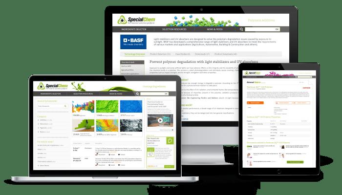 SpecialChem mockup - digital marketing solutions